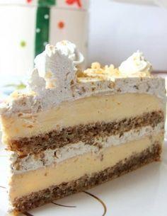 My Magic Cuisine: Egipatska torta Hungarian Desserts, Hungarian Recipes, Sweet Recipes, Cake Recipes, Dessert Recipes, Polish Desserts, Kolaci I Torte, Cake Bars, Dessert Table