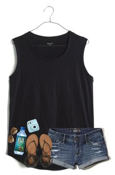 Theme Parks by daydreammmm on Polyvore featuring Madewell, Billabong, H&M, Hollister Co. and Fujifilm