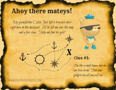 Want to host a treasure hunt for your kids' birthday party? Read on for the best kids treasure hunt ideas, tips and tricks to make it as much fun as possible. Pirate Scavenger Hunts, Scavenger Hunt Birthday, Scavenger Hunt For Kids, Pirate Treasure Hunt For Kids, Treasure Hunt Map, Clues For Treasure Hunt, 21st Birthday Checklist, Birthday Fun, Birthday Ideas