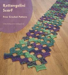 Rettangolini Scarf -free crochet pattern-