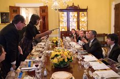 """""""@Obama Foodorama: NEW photo: Pres. #Obama looks on as @Elodie Vermaak lights a candle tonight @The White House #Passover Seder / by @Pete Souza"""" : twitter 10:21p edt 3-25-13"""