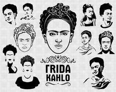 Freida Kahlo Paintings, Dibujos Tattoo, Cricut Monogram, Frida Art, Spanish Design, Future Tattoos, Business Design, Diy Painting, Silhouette Cameo