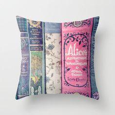 Land of Stories Pillow - Jane Austen, Alice in Wonderland, Fairy Tales. Jane Austen, Books Decor, Objet Wtf, Alice In Wonderland Bedroom, Wonderland Party, Book Pillow, Pillow Talk, Pillow Fight, Book Nooks
