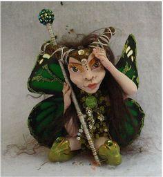 Gitta Horned Woodland OOAK Fairy Fairies Art Doll by britpoprose99, $45.00