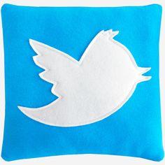 Twitter TWEET fleece pillow