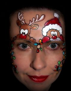 christmas tree face painting - Google Search