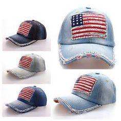 warm te koop mannen en vrouwen baseball cap amerikaanse vlag metalen ...