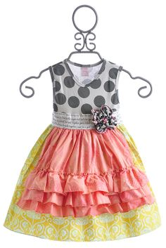 Giggle Moon Joy & Laughter Holly Girls Apron Dress. Love this!