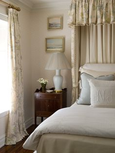 Peonies and Orange Blossoms: Bed Cornices