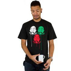 Joker Brand Clown Paint Drips Tee black