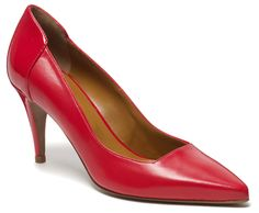 """Hobbs """"Albini"""" Square Cut Court Shoe in Red - $220"""