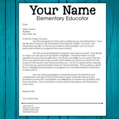 Create a great teacher resume & cover letter and rock your interview! These teacher resume and interview tips help you prepare and rock your next interview. Teacher Application, Job Application Cover Letter, Resume Cover Letter Template, Teacher Resume Template, Teacher Resumes, Teaching Resume, Teaching Jobs, Teaching Interview, Resume Writing