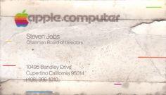 Steven Jobs  スティーブ・ジョブズの貴重な名刺