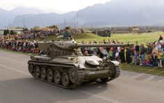 Preserved Swiss Army Leichtpanzer 51 at the Steel Parade in Thun, 2006 Armored Vehicles, Swiss Army, Cold War, Military Vehicles, Tanks, Around The Worlds, Steel, Modern, Firearms