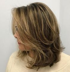 70 Brightest Medium Layered Haircuts to Light You Up - Mid-Length Layered Disheveled Hairstyle - Medium Length Hair Cuts With Layers, Medium Hair Cuts, Medium Hair Styles, Short Hair Styles, Medium Length Bobs, Medium Cut, Medium Layered Haircuts, Haircuts For Medium Hair, Straight Hairstyles
