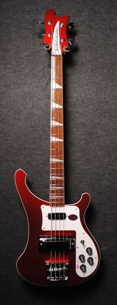Rickenbacker 4003 Bass Guitar in Ruby Red. This is my dream bass right here! So glad I could find it on pinterest #bassguitar