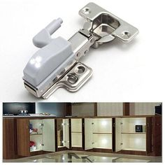 5 x LED Light Lamp Atached On Hinges of Kitchen Wardrobe Cabinet Door Hinge Cupboard Hinges, Hinges For Cabinets, Door Hinges, Cabinet Hardware, Kitchen Cabinets, Makeup Stool, Retro Arcade, Wardrobe Cabinets, Home Automation System