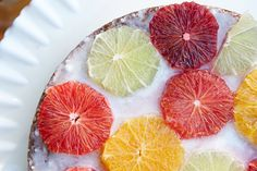 Citrus and Stone Fruit Stained Glass Cakes