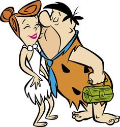 Fred Flintstone and Wilma