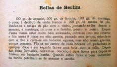 As Receitas da Avó Helena e da Avó Eduarda: Bolas de Berlim