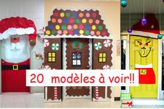 1000 images about noel on pinterest noel christmas - Decoration pour portes interieures ...
