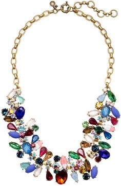 Wow ...this is STUNNING !!!!   J.crew Multicolor Asymmetrical Stone Necklace