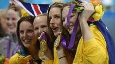 Photo 12 - June 29, 2012 - Consigue Australia récord en natación  El equipo femenil de natación de Australia consigue nueva marca olímpica en el 4x100 --- 170x300