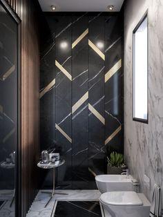 Tile pattern 28 Bathroom Wall Decor Ideas to Increase Bathroom's Value Wood Bathroom, Bathroom Wall Decor, Small Bathroom, Master Bathroom, Bathroom Modern, Bathroom Ideas, Dream Bathrooms, Bathroom Remodeling, Seashell Bathroom