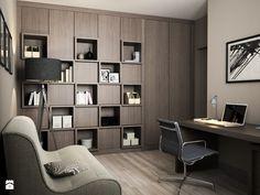 Projekt wnętrz mieszkania - Duże biuro kącik do pracy w pokoju, styl nowoczesny - zdjęcie od ARCHISSIMA - homebook