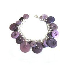 Purple Charm Bracelet Buttons Assorted Purple by LovesParisStudio, $30.00