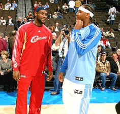 10d0ca5382a Lebron James and Carmelo Anthony (Denver Nuggets)