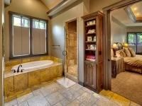 Aspen Ridge I Master Bedroom Suite Bathroom with Walk In Shower and Tub