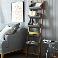 Conveyor Adjustable Floor Shelf #westelm Can I make this with old gutters and reclaimed wood, hmmm....
