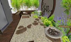 Resultado de imagen para jardines con fuentes y pequeños estanques