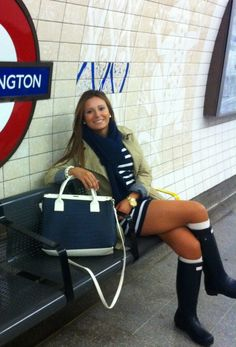 Looks con botas Hunter o de lluvia para empezar la semana   Cuidar de tu belleza es facilisimo.com
