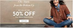 Buy One, Get One 50% Off Pants & Jeans at Chico's