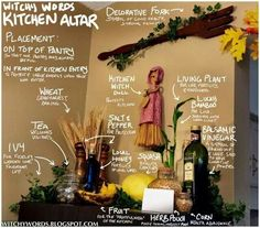 A Witch's Kitchen | #kitchen #altar - Pinned by The Mystic's Emporium on Etsy