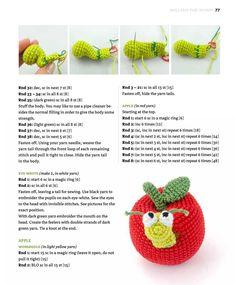 Zoomigurumi 4 – Part Crochet Animal Amigurumi, Crochet Amigurumi Free Patterns, Easy Crochet Patterns, Crochet Animals, Crochet Dolls, Doll Patterns, Crochet Fruit, Crochet Food, Animal Knitting Patterns
