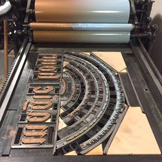 Form for Magic Hour print. Letterpress Machine, Letterpress Printing, Magic Hour, Before Sunset, Printing Press, Gold Ink, Types Of Wood, Hand Carved, Typography