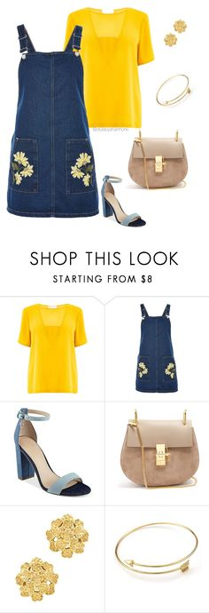 """""""Denim on Denim"""" by stylebyshannonk on Polyvore featuring Warehouse, Topshop, GUESS, Chloé and London Road"""