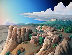 """catmota: """"From Higher Ground Doug West more works by this artist """" Contemporary Landscape, Abstract Landscape, Landscape Paintings, Landscapes, Fine Art Posters, New Zealand Landscape, Southwestern Art, Higher Ground, West Art"""