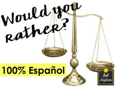 Would You Rather? 100% in Spanish - Game - Icebreaker - Mi