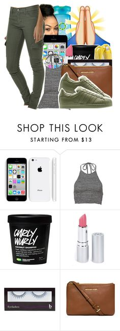 """""""You used to call me on my cell"""" by baby-trilldolls ❤ liked on Polyvore featuring Herbal Essences, HoneyBee Gardens, BBrowBar, MICHAEL Michael Kors, Rusty and adidas Originals"""