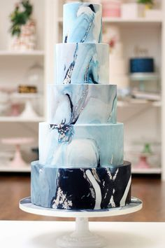 wedding cakes unique Their unique and breath-taking designs really set them apart from other cake designers and any couple who choose Sugared Saffron to create their wedding cake can guarantee a show-stopping centrepiece for their big day. Big Wedding Cakes, Wedding Cake Decorations, Elegant Wedding Cakes, Beautiful Wedding Cakes, Wedding Cake Designs, Gorgeous Cakes, Wedding Cake Toppers, Perfect Wedding, Reception Decorations