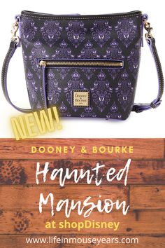 Looking for a high quality bag that will last for years to come? How about Haunted Mansion themed bags? Dooney & Bourke and Disney have collided and created these great Haunted Mansion wallpaper print bags. Click the link to find out more! www.lifeinmouseyears.com #lifeinmouseyears #disneymerch #disneymerchandise #disney Haunted Mansion Wallpaper, Disney Merchandise, Disneyland Resort, Printed Bags, Dooney Bourke, How To Find Out, Mansions, Link, Manor Houses