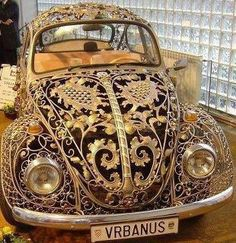 Love this bug! Gold filigree VW