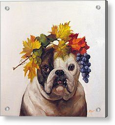 Bacchus Dog Of Wine Acrylic Print by Margot King