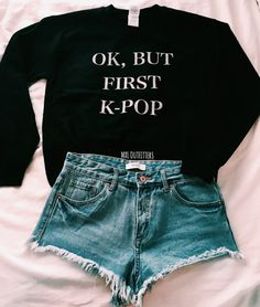 Ok but first K-pop Crewneck Sweatshirt by MXLoutfitters on Etsy