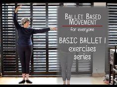 Beginners Ballet 1 Exercises - for Seniors & Beginners Ballet Barre Workout, Ballet Moves, Barre Workouts, Workout Tips, Pilates Workout, Ballet Class, Ballet Kids, Dance Class, Beginner Ballet