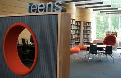 Central Rappahannock Regional Library, England Run, VA. I like the teen shelves with bench seating below.